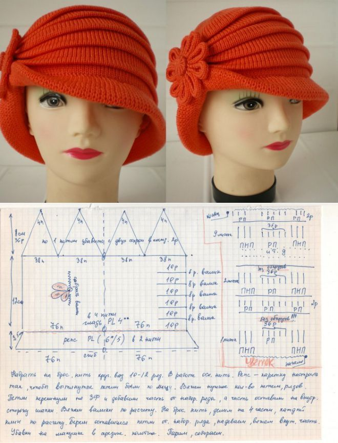 El sombrero de señora de coral \'Ольга\' - es vinculada en el coche ...