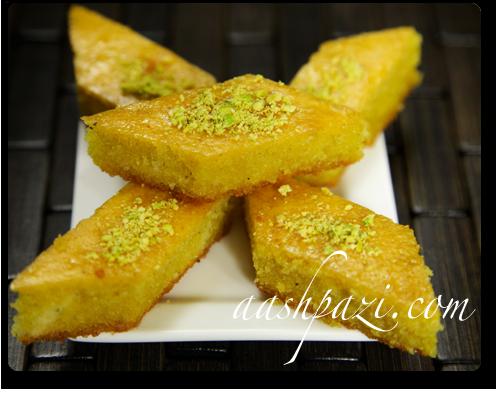 Baklava cake, baghlava yazdi, Recipe | aashpazi.com ...