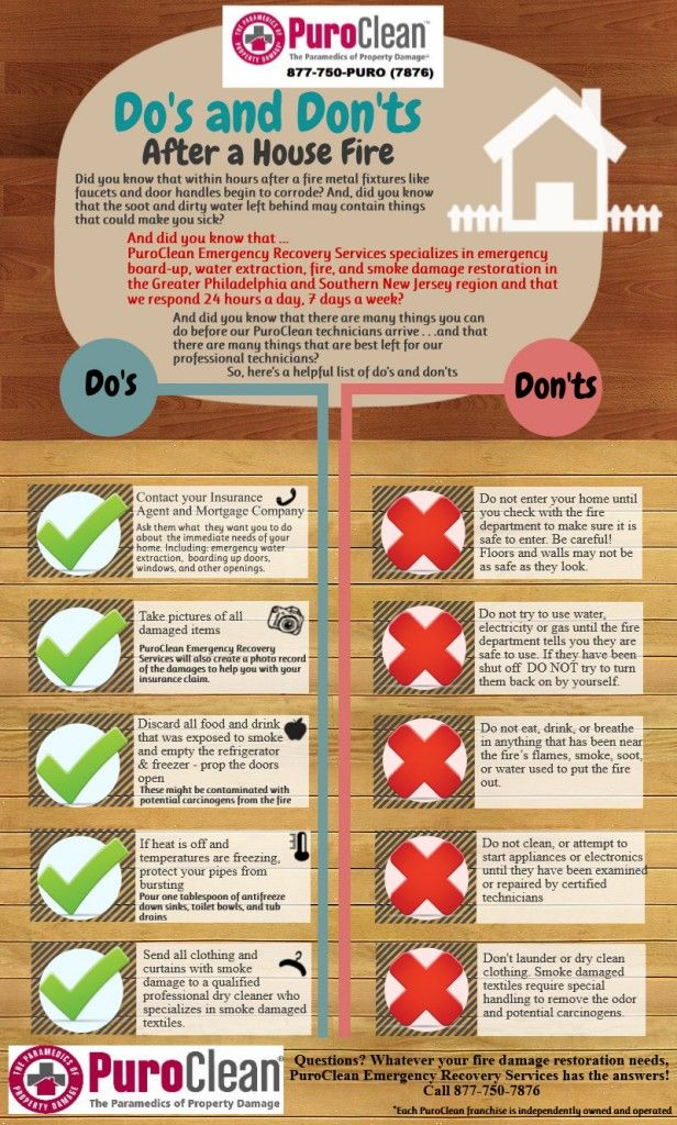 Infographic The Do S And Don Ts After A House Fire Puroclean