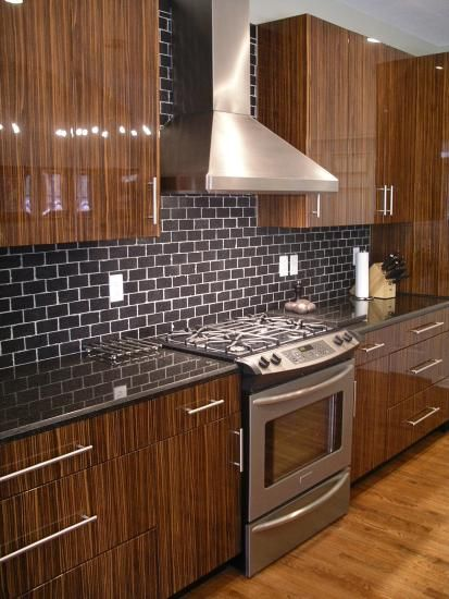 black subway tile white cabinetsperfection in my eyes My Style