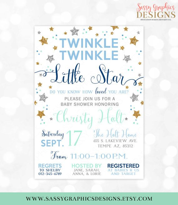 image regarding Free Printable Twinkle Twinkle Little Star Baby Shower Invitations named Pin upon Twinkle Twinkle Minor Star Boy or girl Shower