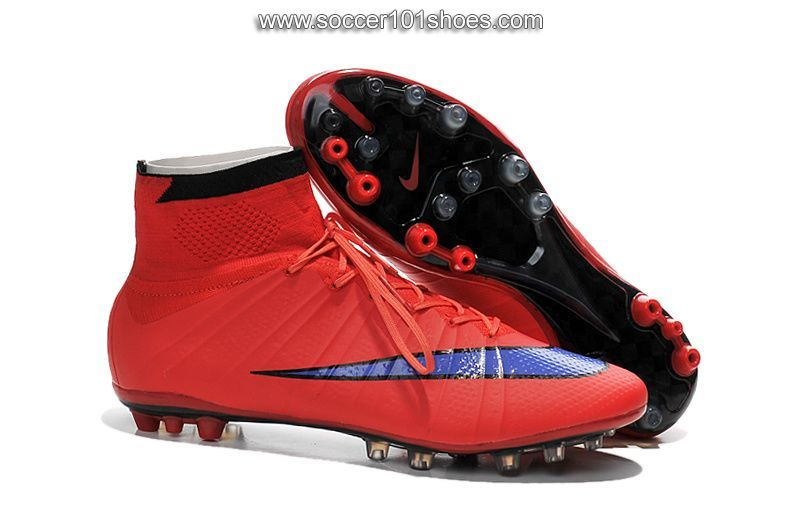 Nike Men's Mercurial Superfly AG Hi Top Football Boot Soccer Cleats Red |  cheap soccer shoes