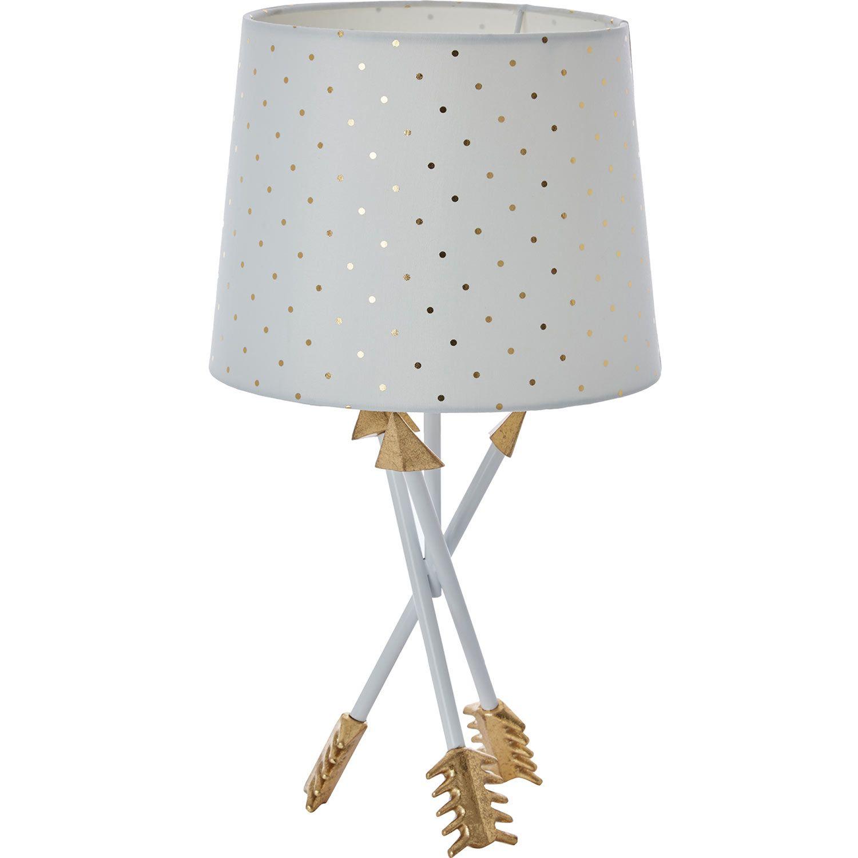 White gold arrow table lamp tk maxx home styling decor white gold arrow table lamp tk maxx reviewsmspy