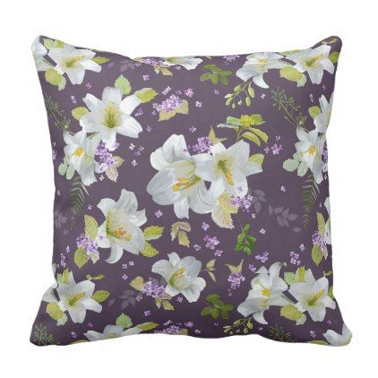 Flowers easter lily throw pillow elegant wedding gifts diy flowers easter lily throw pillow elegant wedding gifts diy accessories ideas negle Image collections