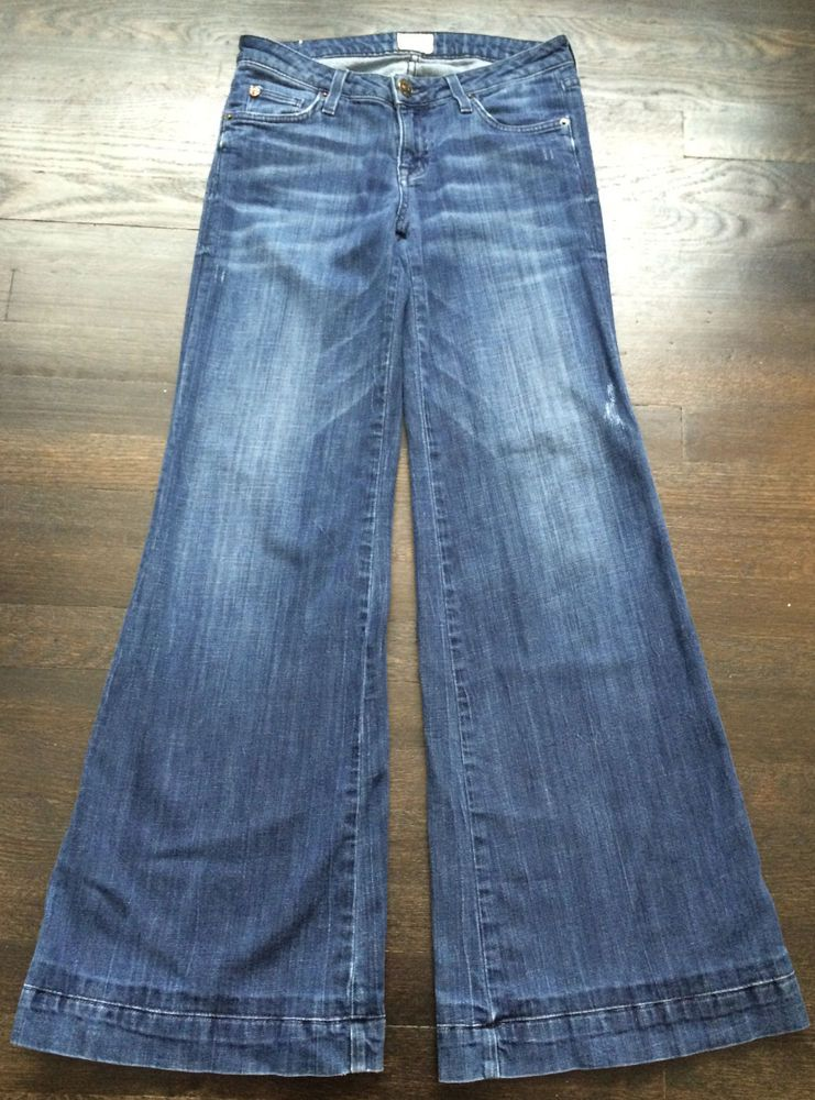 Hudson wide flare leg designer jeans size 26 inseam 30
