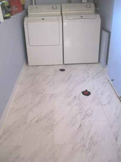Trafficmaster Carrara Marble 12 In X 24 In Peel And Stick Vinyl Tile 20 Sq Ft Case Ss1212 The Home Depot Vinyl Tile Marble Vinyl Vinyl Tile Flooring