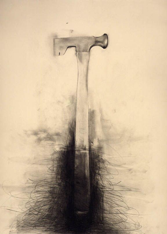 Jim Dine Untitled (Dry-Wall Hammer) 1973 graphite and charcoal ...