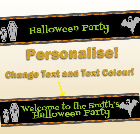 Personalised Halloween Party Supplies Decorations Trick Treat