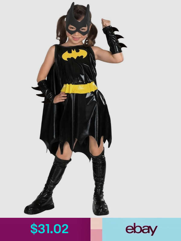 Black BatWoman Ladies Girl Boy Superhero Batman Film Fancy Dress Outfit