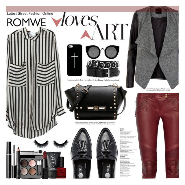"""""""Pockets Chiffon Blouse"""" by diesnatalis ❤ liked on Polyvore featuring Balmain, Daisy Street, Casetify, Quay, Yves Saint Laurent, Chanel, SUQQU, Burberry, NARS Cosmetics and MAC Cosmetics"""