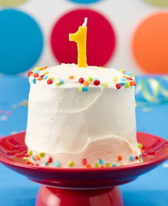 First Birthday Smash Cake Howto Httpwmwalmartcomfood - Small first birthday cakes
