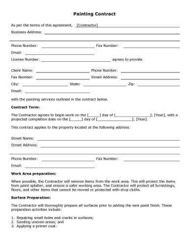 Download Free Template Contract Template Contractor Contract