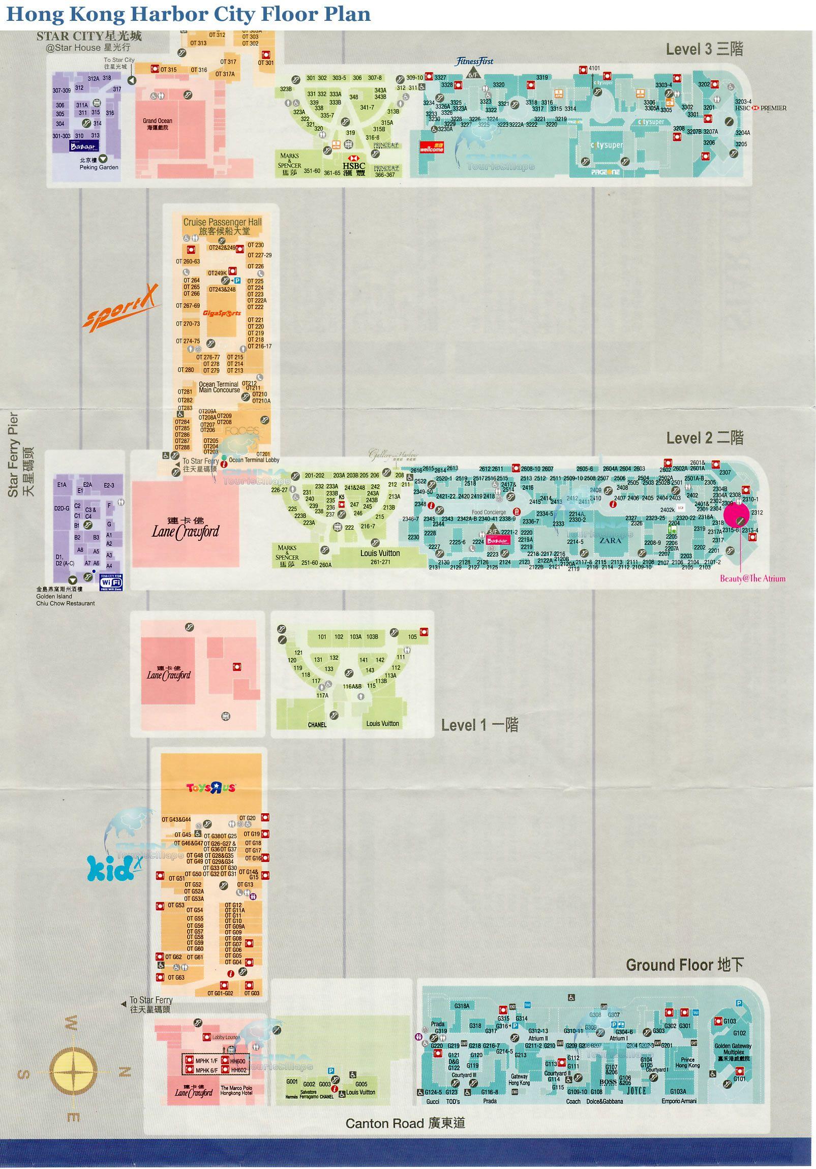 Hong Kong Harbor City Floor Plan http://www.chinawifi.info/hong-kong ...