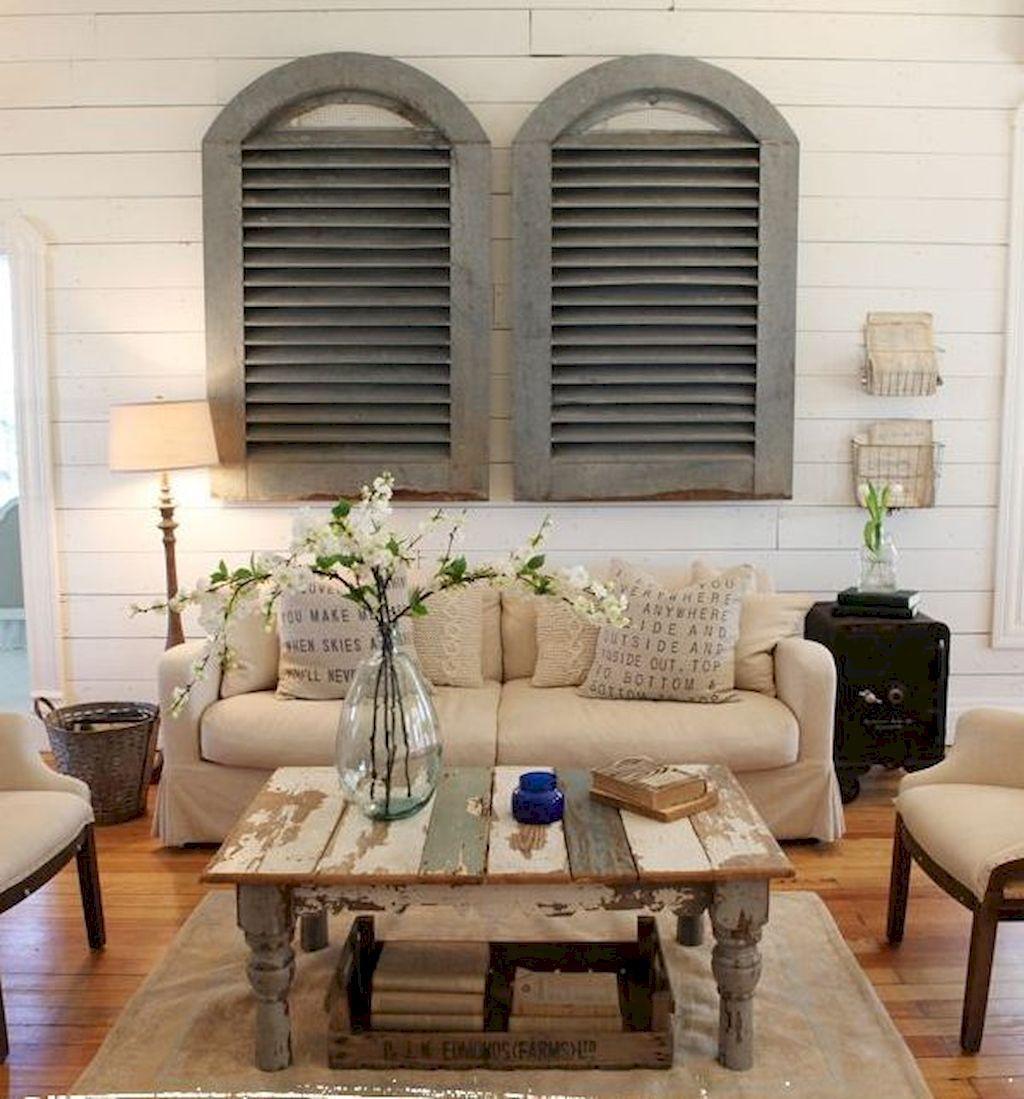 70 Rustic Farmhouse Living Room Decor Ideas (31 Modern