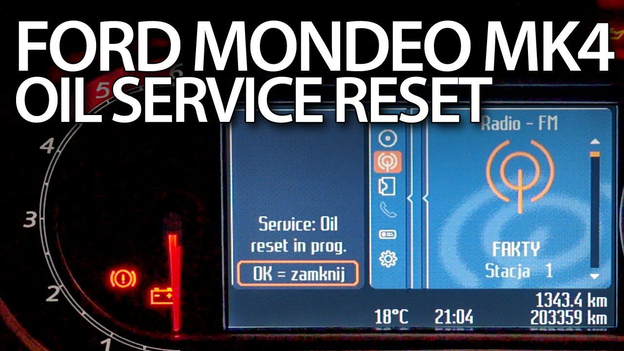 How To Reset Oil Service Reminder In Ford Mondeo Mk4 Inspection Maintenance Oil Service Ford Mondeo Ford