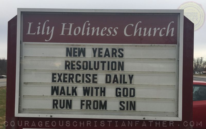 New Years Resolution - Exercise Daily - Walk with God - Run from Sin ...