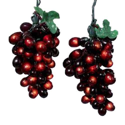 elegant burgundy grapevine string lights grape cluster decorations