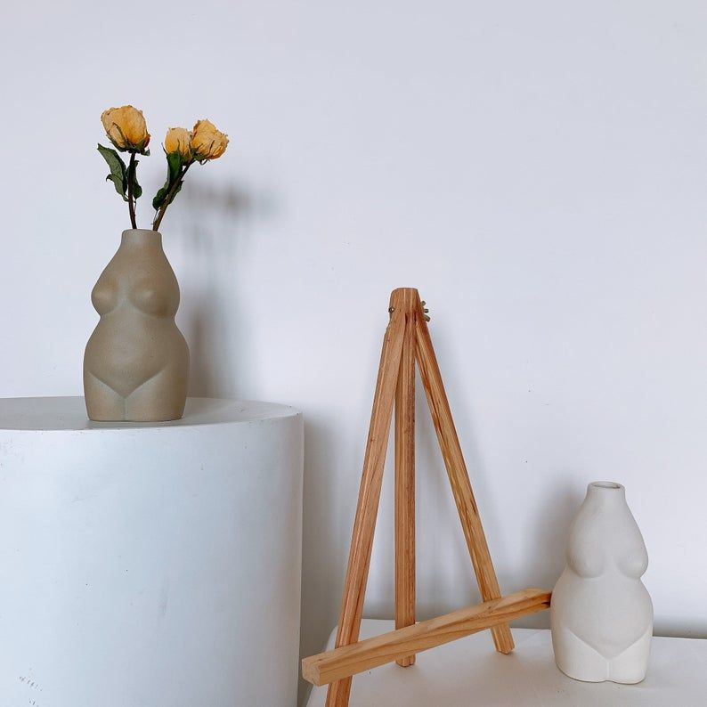 Black white art Handmade Ceramic Vase Minimalist Decor Modern Flower vase,personalized gift VS016