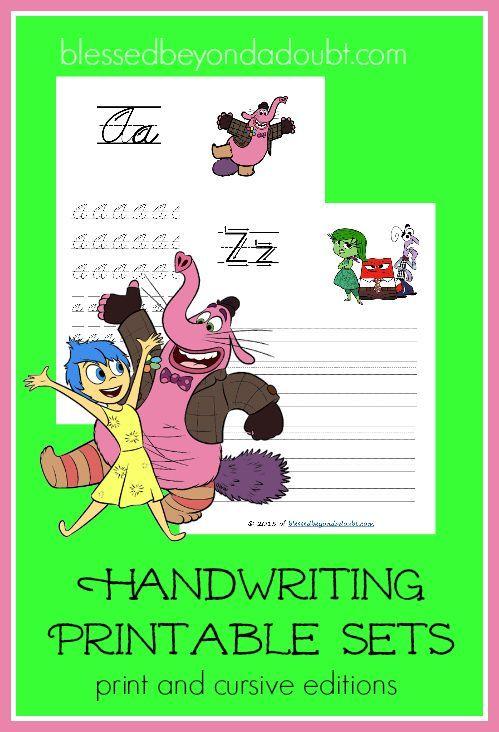 FREE Inside Out Handwriting Printable Set - Print and Cursive ...