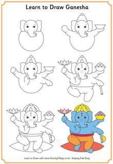 Ganesha Craft Learn To Draw Ganesha Holiday Crafts For Kids