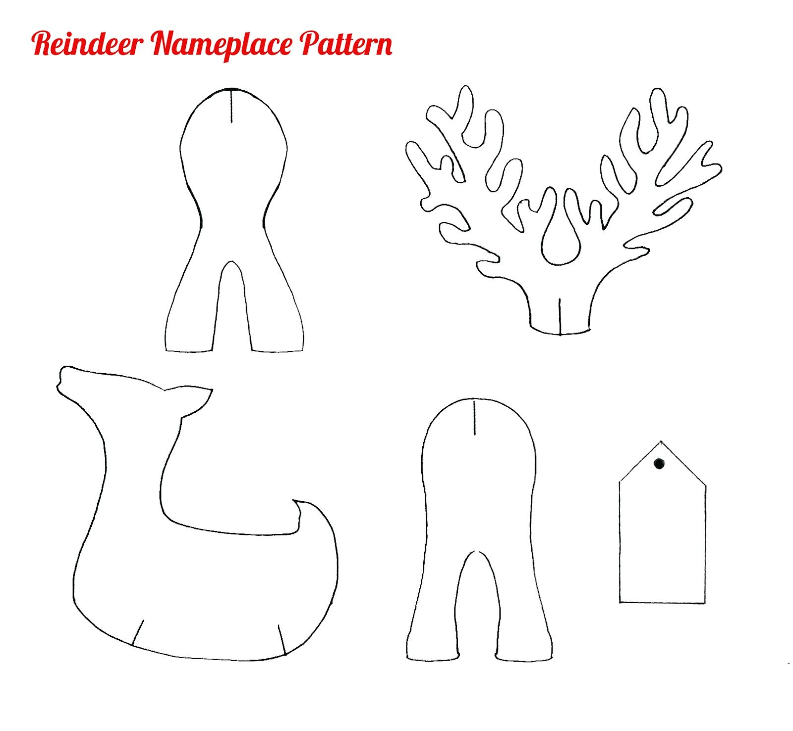 paper reindeer pattern christmas shapes - Google Search ...
