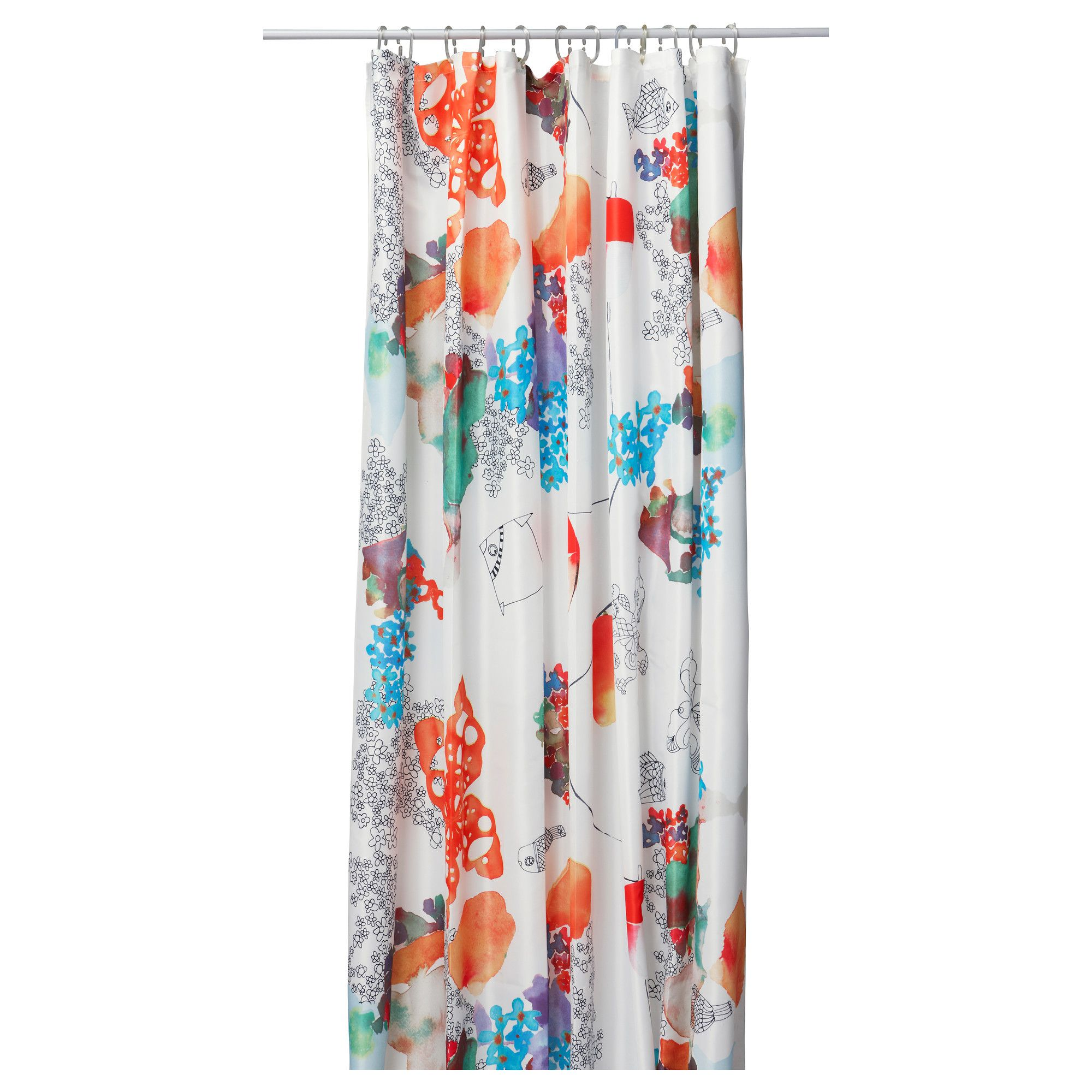 TALLHOLMEN Shower Curtain   IKEA Great Water Colour Look!