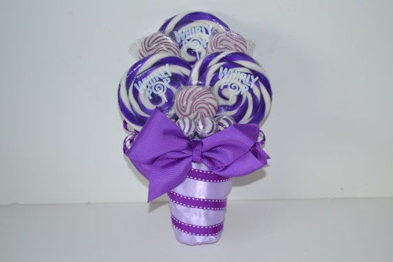 "Lollipop Maid of Honor/Small Bouquet Purple by EdibleWeddings, $29.99(Design patent pending, please do not add to ""Craft"" boards)"