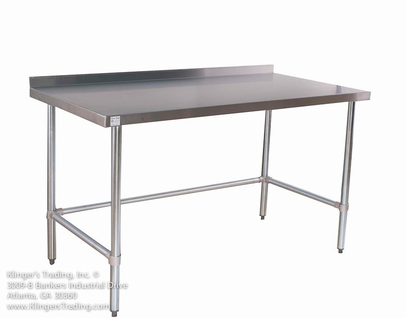 stainless steel back splash table with no under shelf   Stuff to Buy ...
