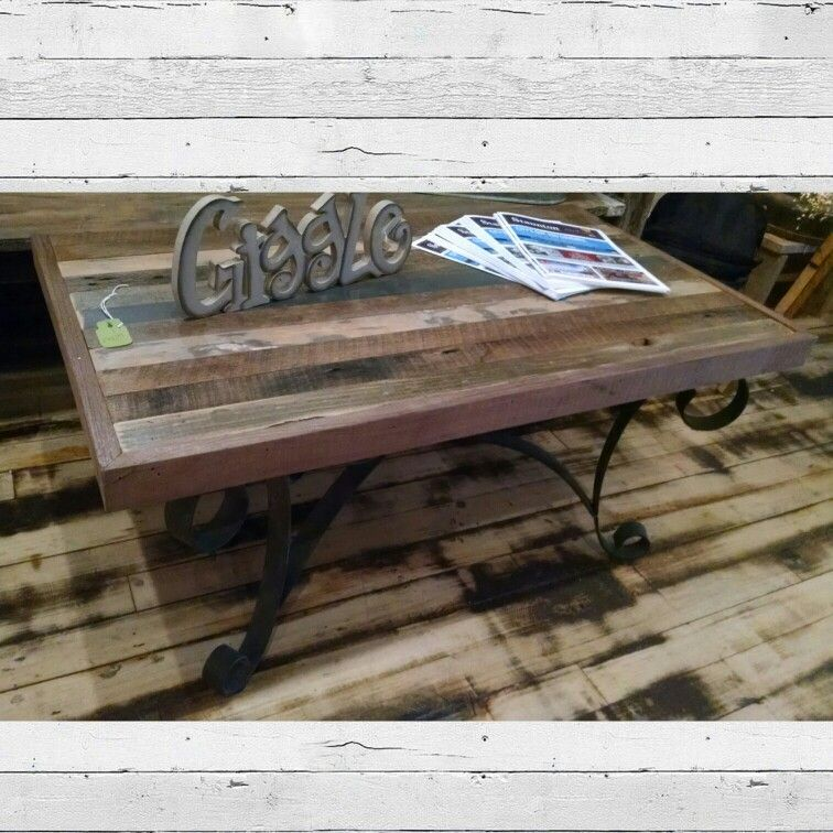 Reclaimed Wood And Wrought Iron Coffee Table 174 99