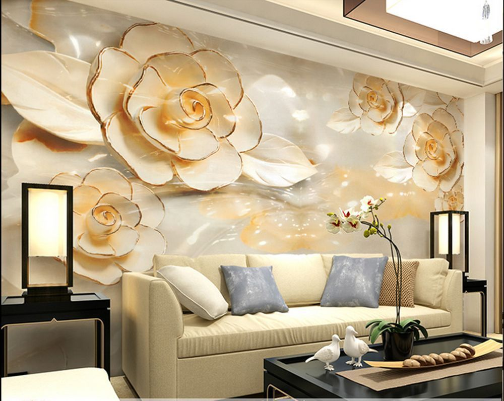 3d Wallpaper Bedroom Mural Roll Modern Luxury Flower Backgr