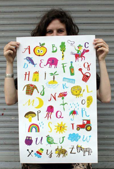 Abc Poster Gross Vorschule Grafikdesign Und Kinderzimmer