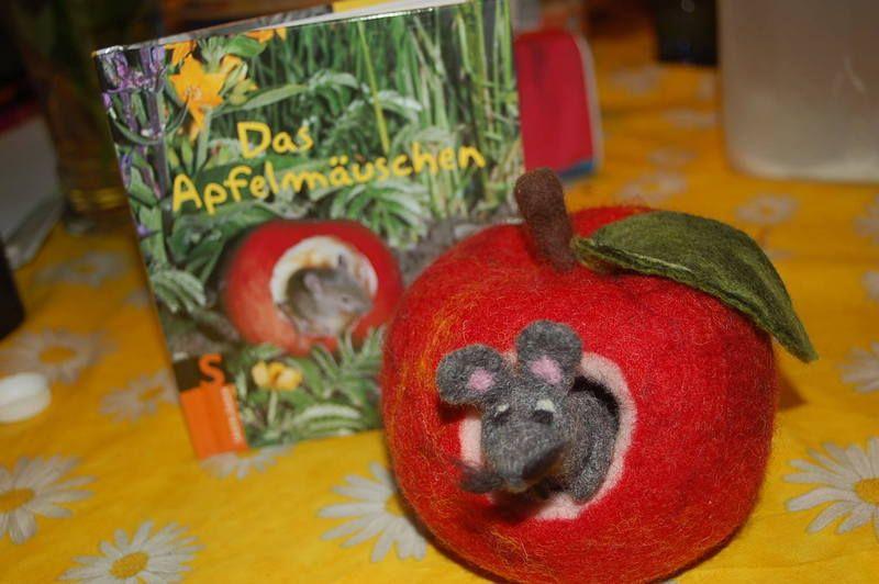 Das Apfelmäuschen Filz Anleitung Unter Montessori Material