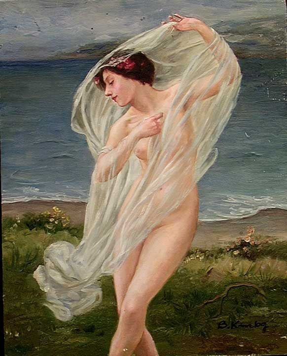 Classical nude painting all charm!