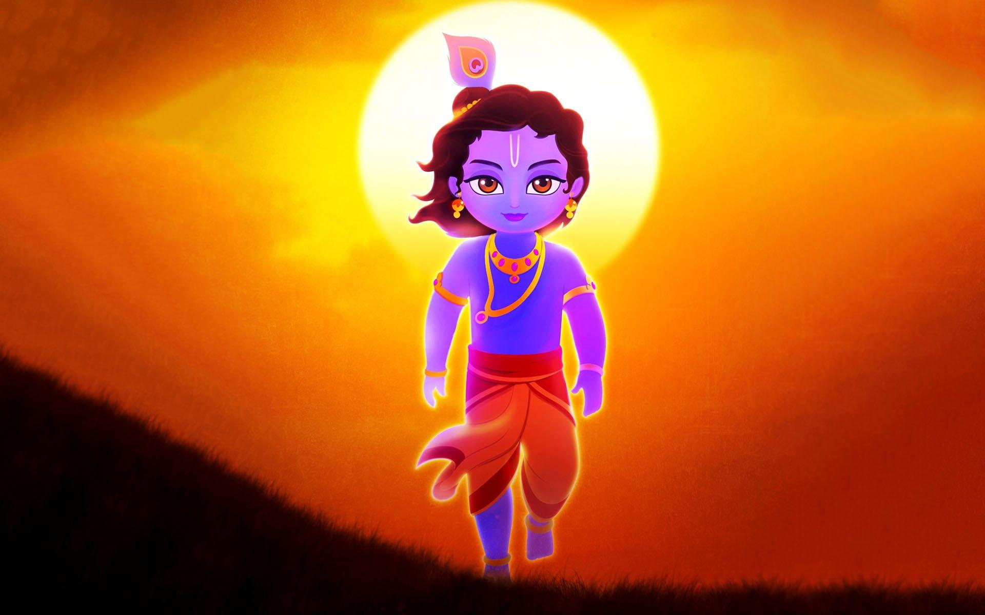 Lord Krishna Illustration Krishna Illustration God Lord Krishna 1080p Wallpaper Hdwallpaper Desktop Little Krishna Krishna Wallpaper Krishna