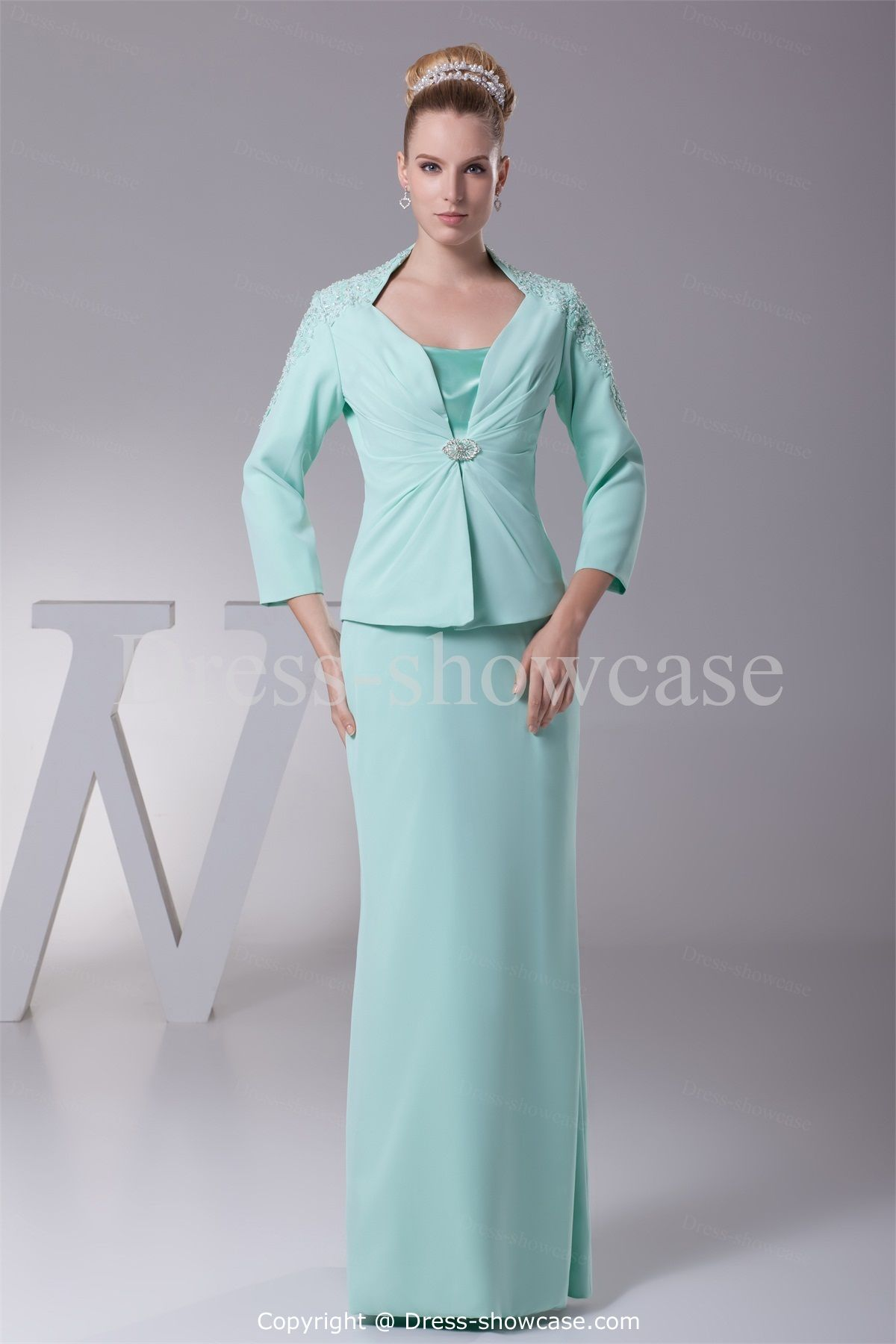 Mother of the bride beach dresses for weddings  Length Buckle FloorLength Straps Mother of the Bride Dress