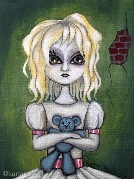 Wendy (Gloomy Ghoul Kid No 1) - Art by Karla Ruiz