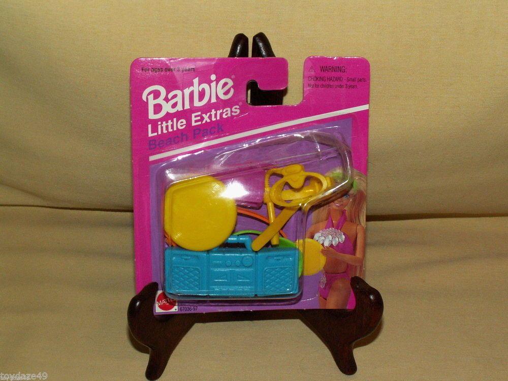 BARBIE DOLL LITTLE EXTRAS BEACH PACK NEW 1995 MATTEL #67036-97 SUMMER FUN OCEAN #Mattel