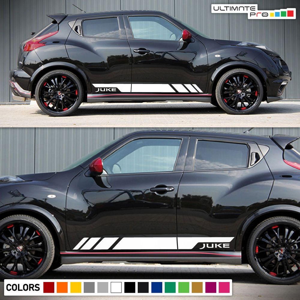 hight resolution of sticker decal vinyl side door stripes for nissan juke racing bumper handle s sv ultimateprocy1