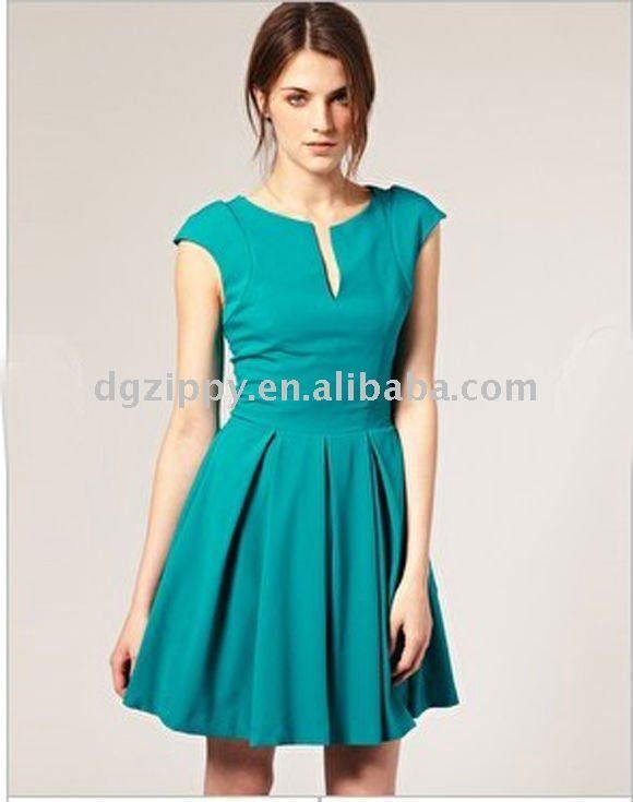 4f269c705 Vestido verde corto casual