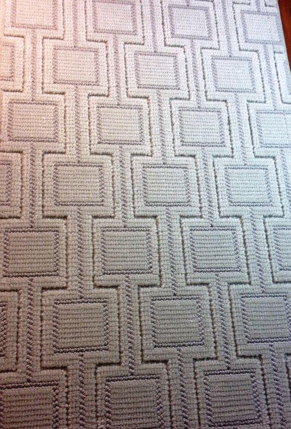Schumacher Area Rug Doormat X Annandale Kasten Sea Breeze Wool Rosecore Collection