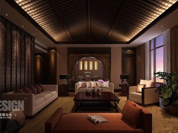 11 Inspiring Asian Living Rooms Chinese interior Hall design and
