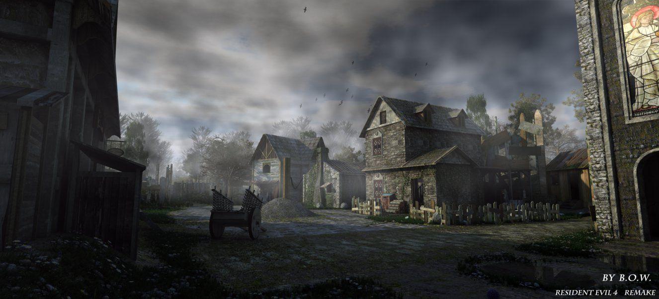 Resident Evil4 Remake Village For 4096 1862 By Bowu Resident Evil Cenario
