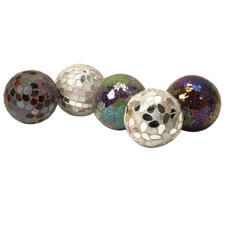 Decorative Mosaic Balls Set Of Five Mosaic Ballsproduct 5 Piece Decorative Ball