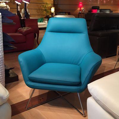 étonnant fauteuil cuir bleu Décoration fran§aise