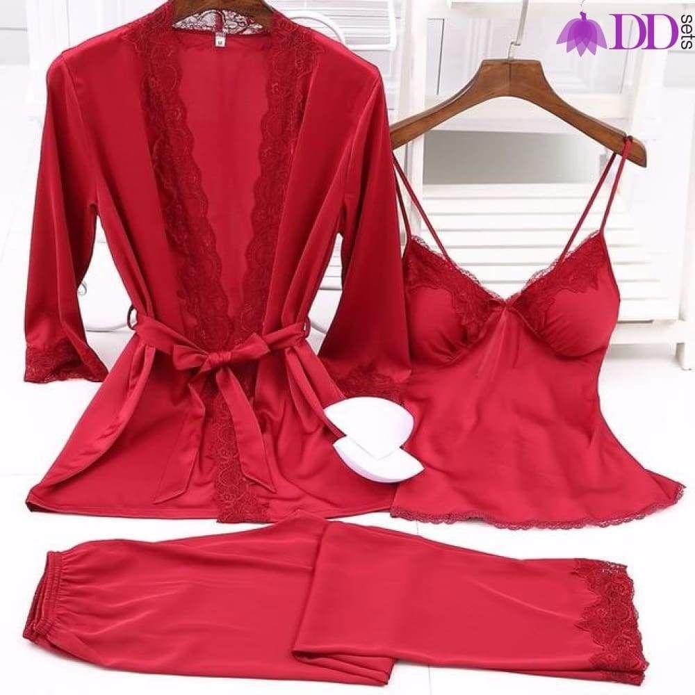 9beb5d3562 Satin Boo Silky Pajama Set