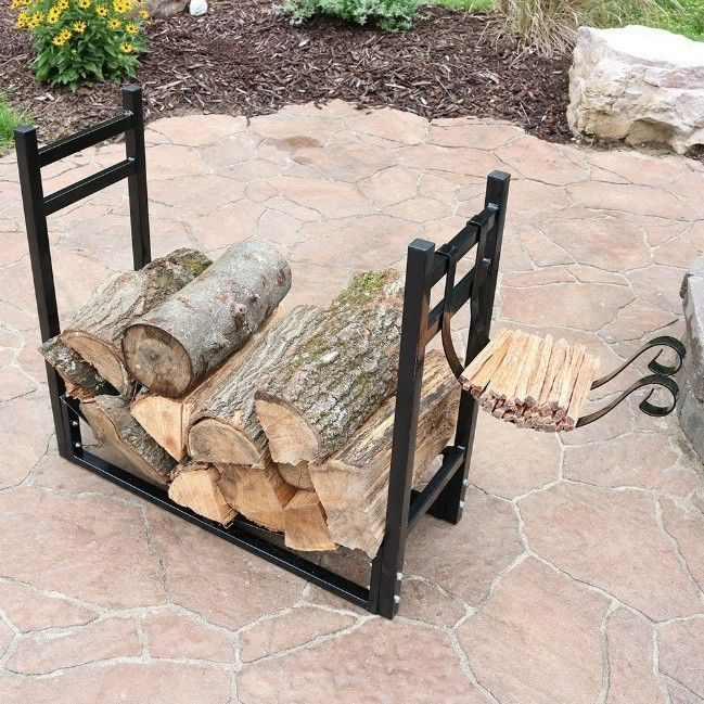 Etonnant Outdoor Wood Drying Rack Small 4 Foot Firewood Metal Storage Log Kindling  Stand #SunnydazeDecor