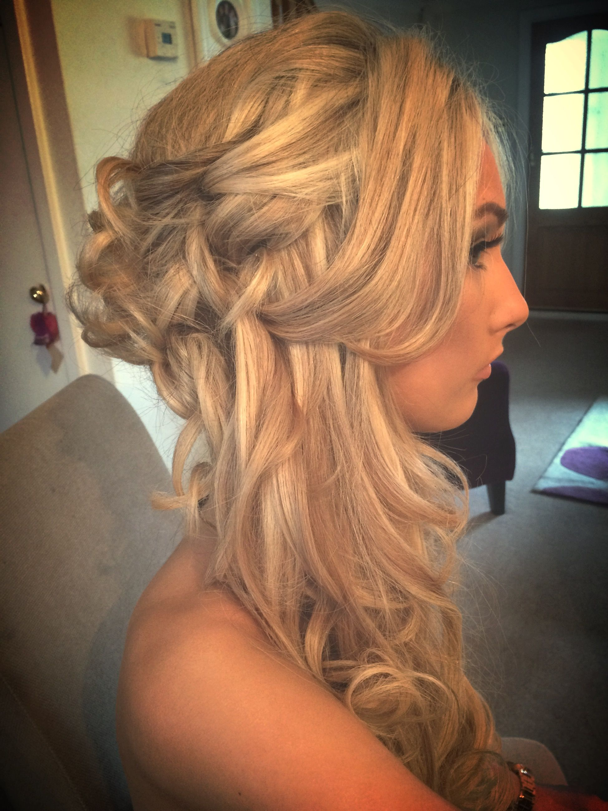 Curly prom hair using hair extensions my hairdressing portfolio