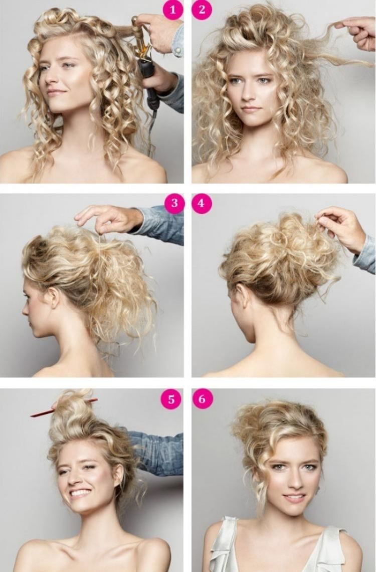 Coiffure facile cheveux court frise