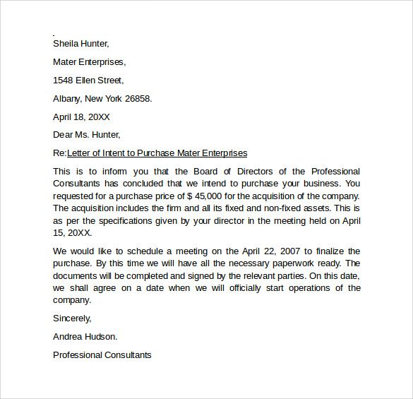 letter of intent formats ideasplataforma Fitness  Workouts - letter of intent example
