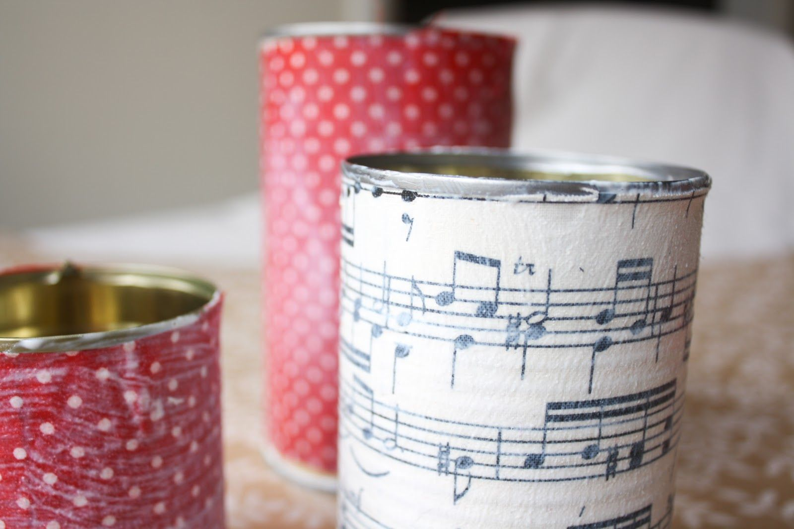 up-cycled fabric cans